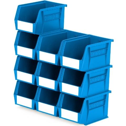סט 10 תאי אחסון מודולריים כחולים - 210MM X 140MM X 130MM APEX LINVAR