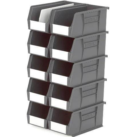 סט 10 תאי אחסון מודולריים אפורים - 280MM X 140MM X 130MM APEX LINVAR