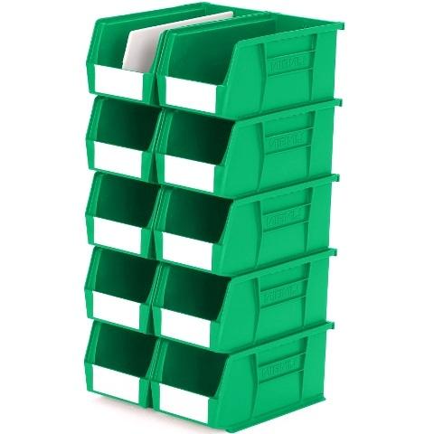 סט 10 תאי אחסון מודולריים ירוקים - 280MM X 140MM X 130MM APEX LINVAR