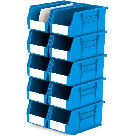 סט 10 תאי אחסון מודולריים כחולים - 280MM X 140MM X 130MM APEX LINVAR