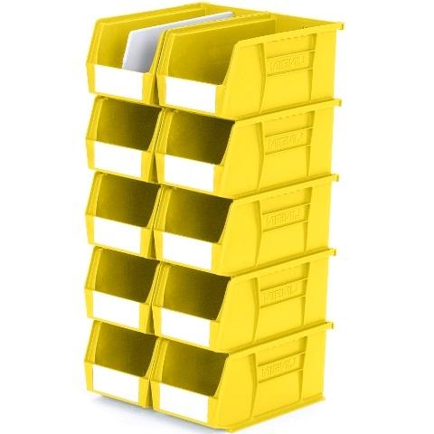 סט 10 תאי אחסון מודולריים צהובים - 280MM X 140MM X 130MM APEX LINVAR