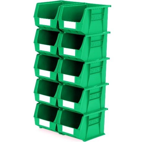 סט 10 תאי אחסון מודולריים ירוקים - 280MM X 210MM X 180MM APEX LINVAR