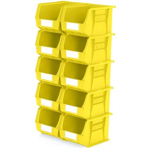 סט 10 תאי אחסון מודולריים צהובים - 280MM X 210MM X 180MM APEX LINVAR
