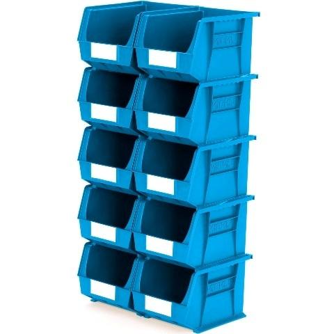 סט 10 תאי אחסון מודולריים כחולים - 280MM X 210MM X 180MM APEX LINVAR