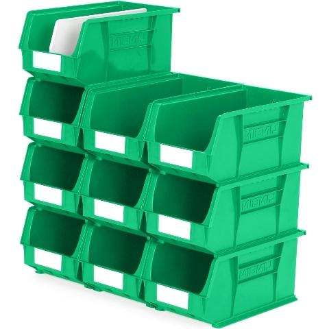 סט 10 תאי אחסון מודולריים ירוקים - 375MM X 210MM X 180MM APEX LINVAR