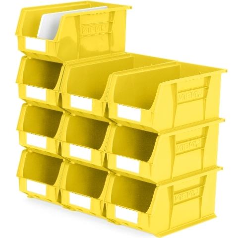 סט 10 תאי אחסון מודולריים צהובים - 375MM X 210MM X 180MM APEX LINVAR