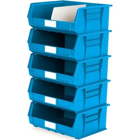 סט 5 תאי אחסון מודולריים כחולים - 420MM X 375MM X 180MM APEX LINVAR