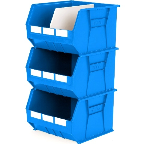 סט 3 תאי אחסון מודולריים כחולים - 455MM X 420MM X 295MM APEX LINVAR