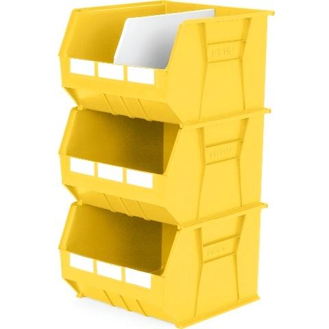 סט 3 תאי אחסון מודולריים צהובים - 455MM X 420MM X 295MM APEX LINVAR