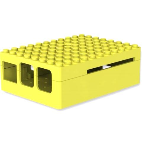 קופסת זיווד PI-BLOX צהובה עבור RASPBERRY PI 2 CAMDENBOSS