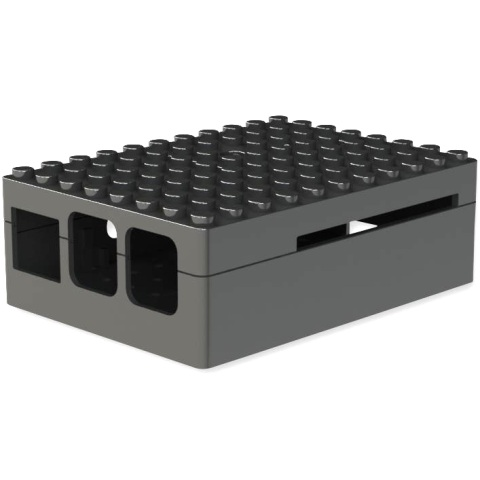 קופסת זיווד PI-BLOX שחורה עבור RASPBERRY PI 2 CAMDENBOSS
