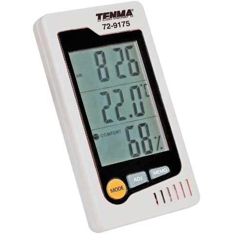 TENMA THERMO-HYGROMETER WITH CLOCK