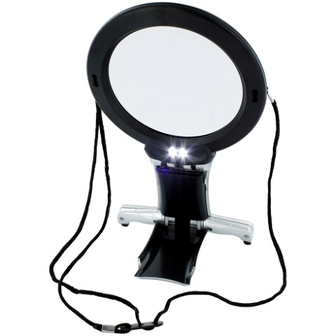 LIGHTCRAFT DUAL PURPOSE NECK & DESK MAGNIFIER - LC1850