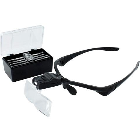 משקפי הגדלה 5 עדשות עם תאורת LED LIGHTCRAFT
