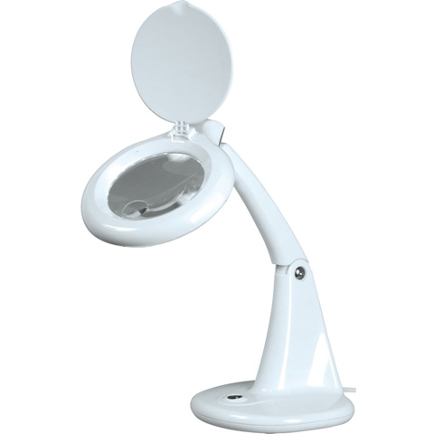 מנורת עבודה שולחנית עם זכוכית מגדלת - X3 / X12 - LED LIGHTCRAFT