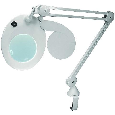 מנורת עבודה שולחנית עם זכוכית מגדלת - SLIMLINE - הגדלה X3 LIGHTCRAFT