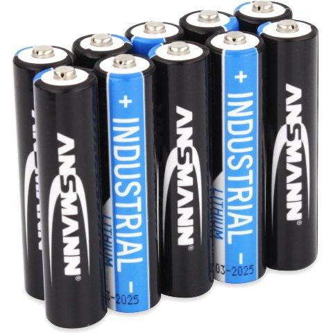 סוללות ליתיום תעשיתיות - AAA 1.5V - מארז 10 יחידות ANSMANN
