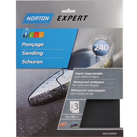 NORTON ABRASIVES WATERPROOF SILICONE CARBIDE SANDING SHEETS