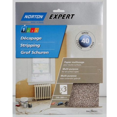 NORTON ABRASIVES MULTI PURPOSE GLASS PAPERS