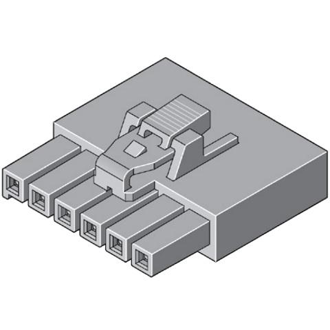 מחבר MOLEX ללחיצה לכבל - סדרת ULTRA-FIT - נקבה 2 מגעים MOLEX