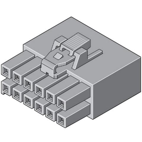 מחבר MOLEX ללחיצה לכבל - סדרת ULTRA-FIT - נקבה 10 מגעים MOLEX