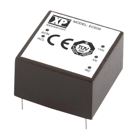 ספק כוח AC/DC למעגל מודפס - 5W - 85V~264V ⇒ 12V / 410MA XP POWER