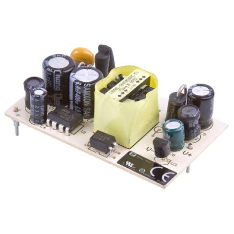 ספק כוח AC/DC למעגל מודפס - 4.5W - 90V~264V ⇒ 15V / 300MA XP POWER