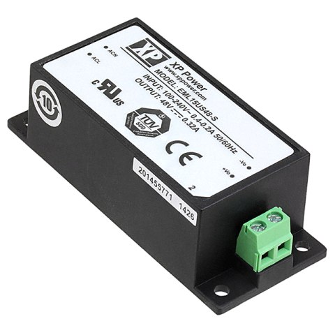 ספק כוח AC/DC לשאסי - 15W - 85V~264V ⇒ 48V / 320MA XP POWER