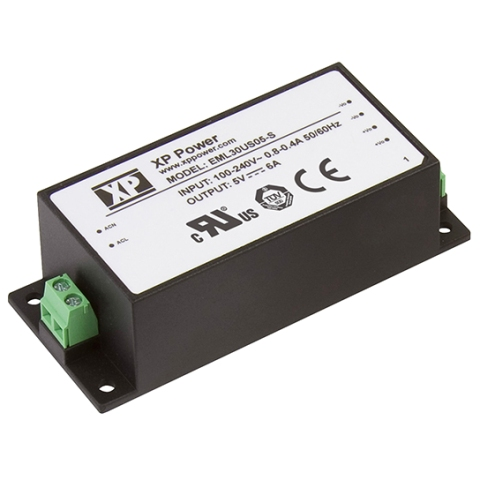 ספק כוח AC/DC לשאסי - 30W - 85V~264V ⇒ 24V / 1.25A XP POWER