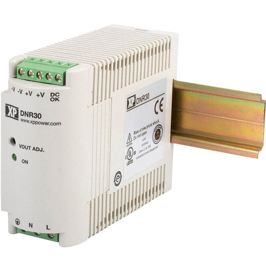 XP POWER DIN RAIL MOUNT INDUSTRIAL POWER SUPPLIES - DNR SERIES