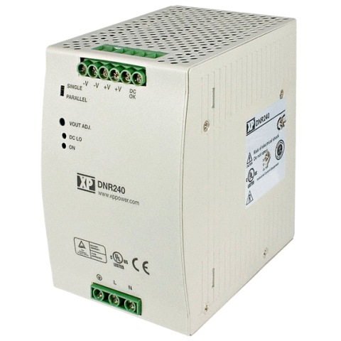XP POWER DIN RAIL MOUNT INDUSTRIAL POWER SUPPLIES - DNR TS SERIES