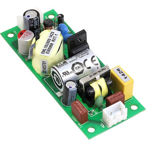 ספק כוח AC/DC לשאסי - 15W - 85V~264V ⇒ 12V / 1.25A XP POWER