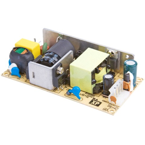 ספק כוח AC/DC לשאסי - 40W - 85V~264V ⇒ 5V / 10A XP POWER