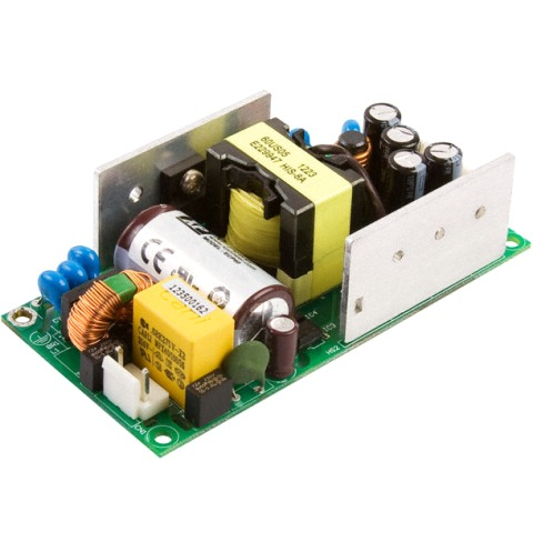 ספק כוח AC/DC לשאסי - 60W - 90V~264V ⇒ +5V / +15V / -15V XP POWER