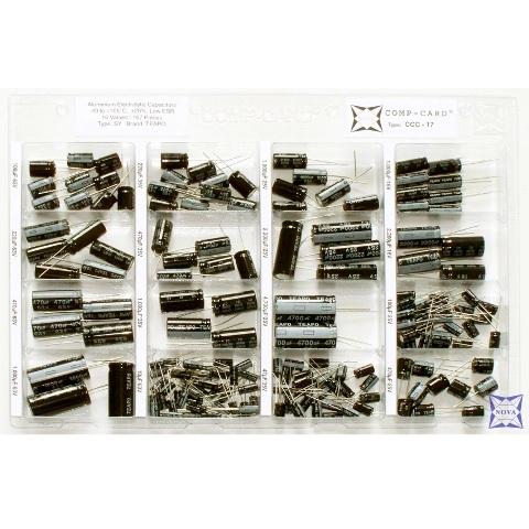 קיט קבלים אלקטרוליטיים - 16 ערכים - 167 יחידות NOVA