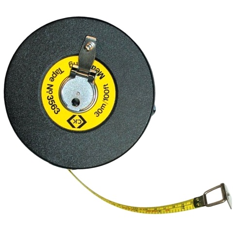 CK TOOLS 30 METER REINFORCED STEEL MEASURING TAPE - T3563
