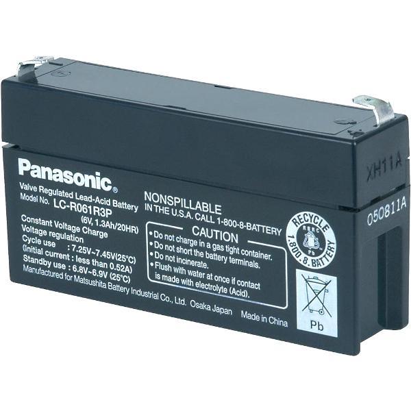 מצבר עופרת נטען - PANASONIC 6V 1.3AH PANASONIC