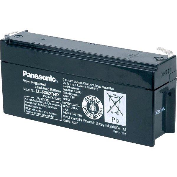 מצבר עופרת נטען - PANASONIC 6V 3.4AH PANASONIC