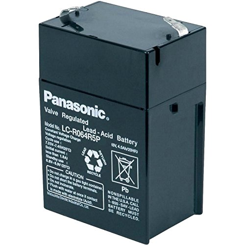 מצבר עופרת נטען - PANASONIC 6V 4.5AH PANASONIC