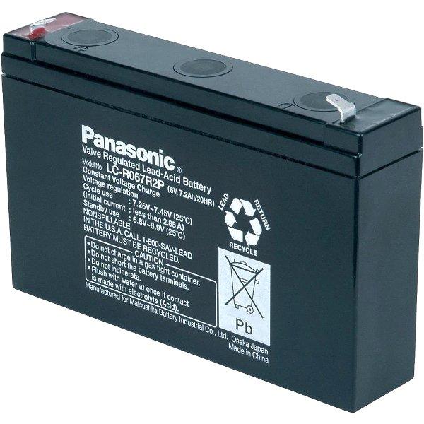 מצבר עופרת נטען - PANASONIC 6V 7.2AH PANASONIC