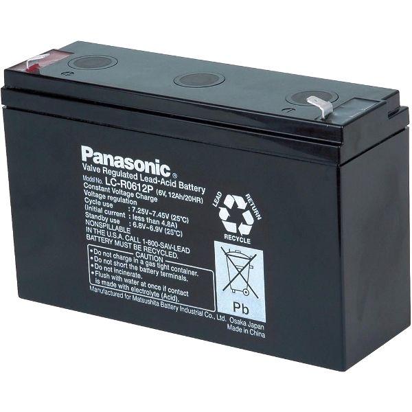 מצבר עופרת נטען - PANASONIC 6V 12AH PANASONIC