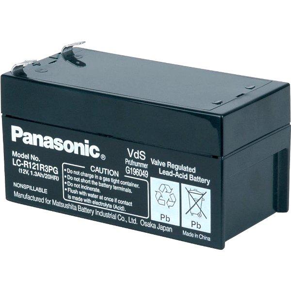 מצבר עופרת נטען - PANASONIC 12V 1.3AH PANASONIC