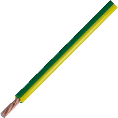 כבל חשמל גמיש - 0.5MM² / 21AWG - TRI RATED 600V - ירוק / צהוב PRO-POWER