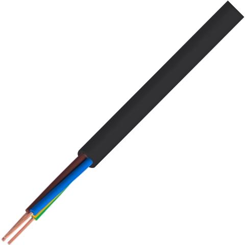 כבל חשמל גמיש - 2X1.0MM² - MULTICORE LSZH - בידוד שחור PRO-POWER