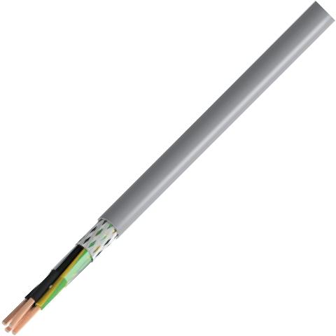 כבל חשמל גמיש - 3X0.75MM² - MULTICORE CY - בידוד אפור PRO-POWER