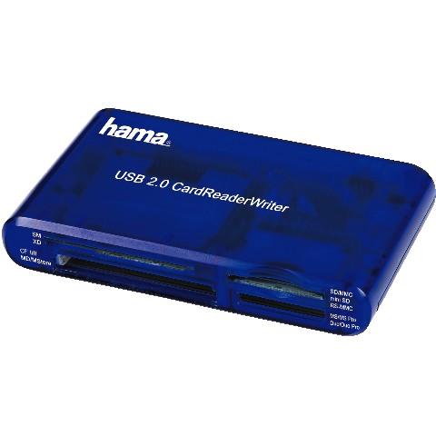 קורא כרטיסי זיכרון אוניברסלי USB2.0 HAMA