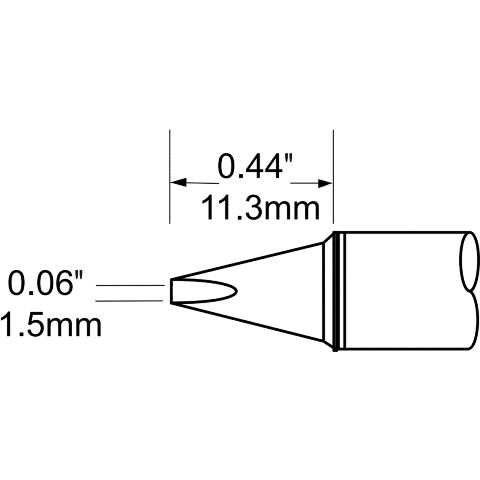 ראש לידית מלחם - METCAL SFV-CH15A - CHISEL 1.5MM METCAL