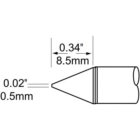 ראש לידית מלחם - METCAL SFV-CN05 - CONICAL 0.5MM METCAL