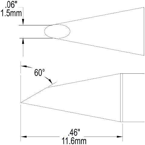 ראש לידית מלחם - METCAL SFP-DRH615 - HOOF 1.5MM METCAL