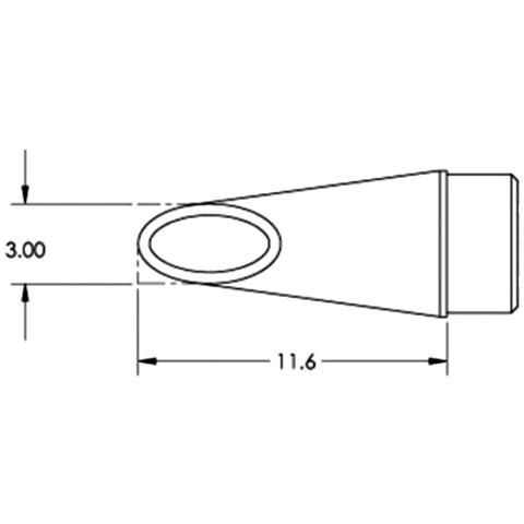 ראש לידית מלחם - METCAL SFP-WV30 - HOOF 3MM METCAL